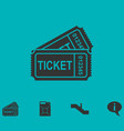 ticket icon flat vector image