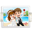 Wedding photo vector image