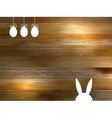 Easter Wood Background Vector Image