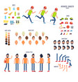character set with body parts and rest things vector image