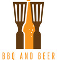 bbq tools and beer design template vector image