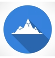 Mountains Icon vector image vector image