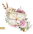 Envelopes with flowers vector image