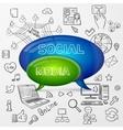 speech bubble social media design vector image