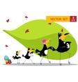 Nine Toucan cartoon collection vector image