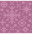 Seamless knitted winter pattern with snowflakes vector image