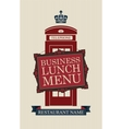 menu for business lunches vector image vector image