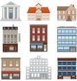 Buildings icons isolated on white vector image
