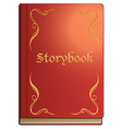 Storybook with red covers vector image