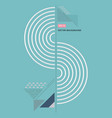 abstract semicircle lines geometric composition vector image