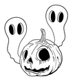 black and white pumpkin vector image