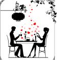 Cafe cupid vector image