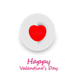Card happy valentine day vector image