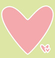 design for valentine day card with pink heart vector image