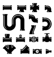 Pipe fittings icons set vector image