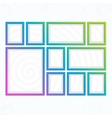 Modern bright frames set vector image
