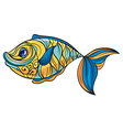 A colorful fish vector image vector image