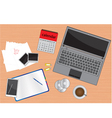 business desk vector image
