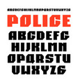 sanserif font in military style vector image