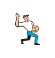 Delivery Courier Deliver Package Cartoon vector image