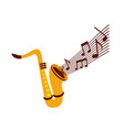 saxophone note music jazz instrument festival vector image