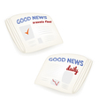 Good news daily newspaper vector image