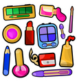 make up icons vector image vector image