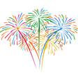 Fireworks on white background vector image