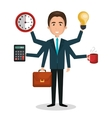 busy person design vector image
