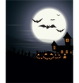 Halloween Background with haunted house and scary vector image