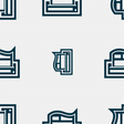 Newspaper icon sign Seamless pattern with vector image