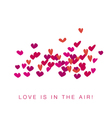 simple vivid life valentine hearts assorted flying vector image