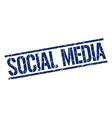 social media stamp vector image
