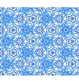 Blue abstract flowers seamless pattern vector image