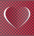 heart handmade vector image