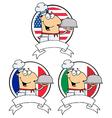 Cartoon chef vector image vector image