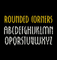 sanserif font in new gothic style with rounded vector image