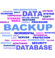 word cloud backup vector image