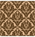 Floral damask-style repeat pattern vector image