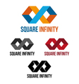 Square infinity vector image