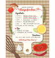 Recipe card creative Wedding Invitation design vector image