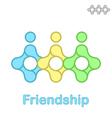 Friendship conceptual icon vector image