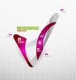 Modern fresh wave business infographics vector image