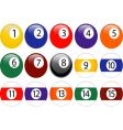 pool ball set vector image vector image