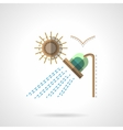 Camping shower flat color icon vector image