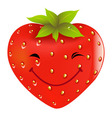 cartoon strawberry vector image vector image