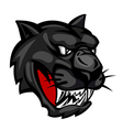 panther mascot icon vector image