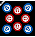 red and blue arrows - in eight directions vector image