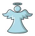 angel icon cartoon style vector image