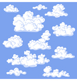 clouds color vector image